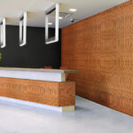 reveal wall collection in office reception area - c10