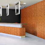plyboo sound collection in an office reception area